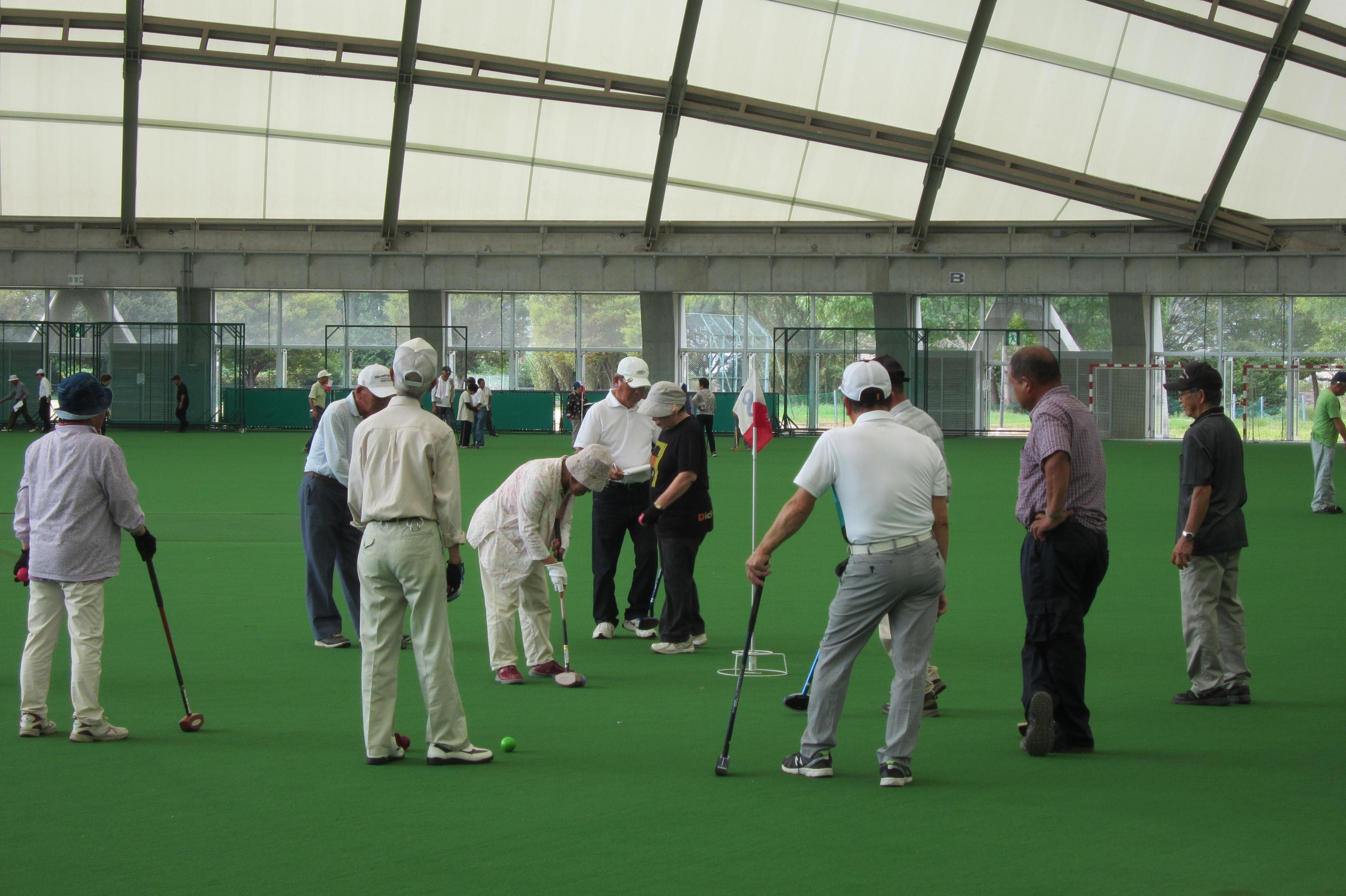 平成28年度グラウンド・ゴルフ大会の様子